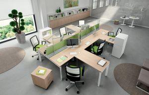 ENTITY-Workstations-con-profilo-attrezzato-Riganelli-Uffici