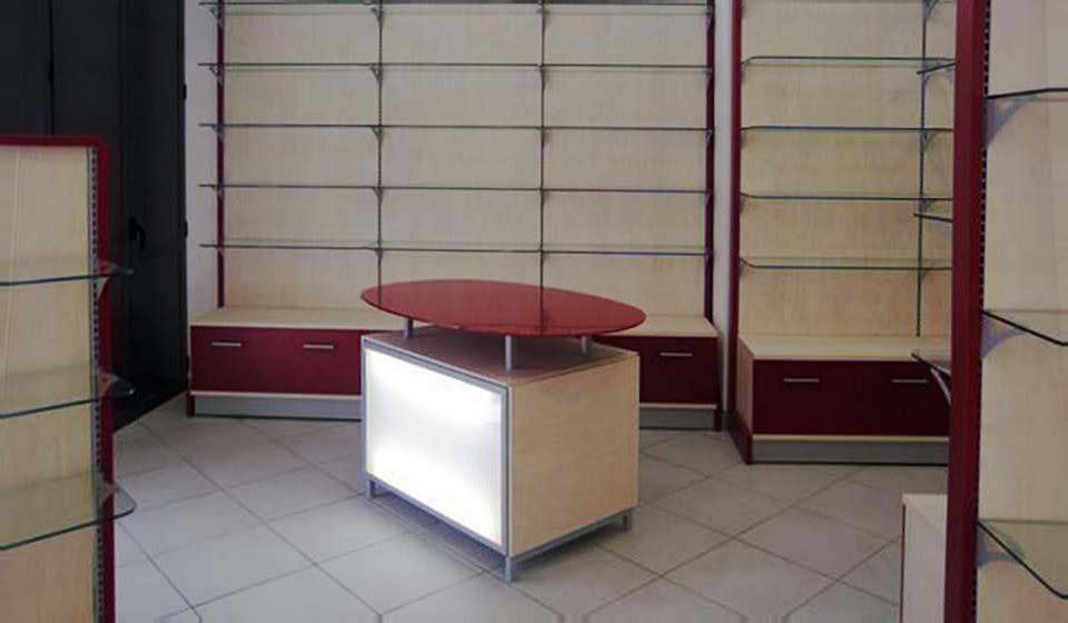 FARMACIA Banco esporitore centrosala rosso - Riganelli Arredamenti