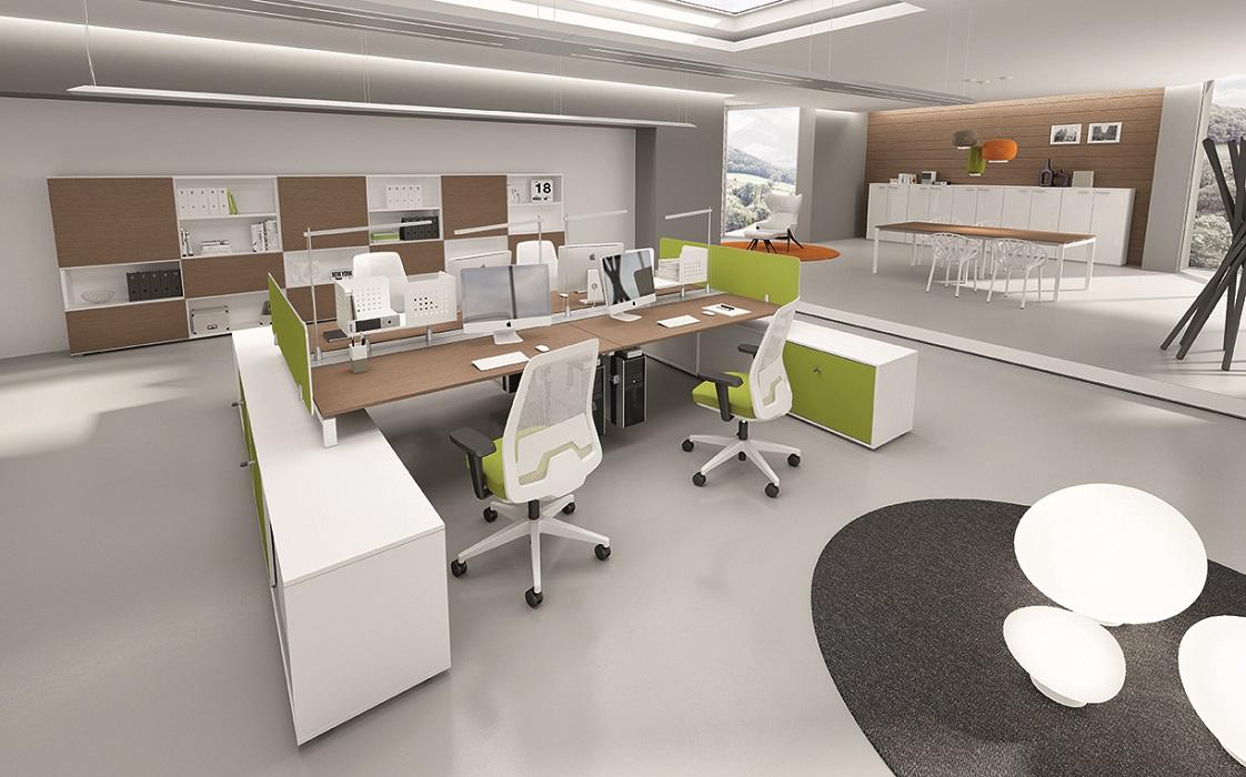 Gap-scrivania-multipostazione-con-pannelli-privacy