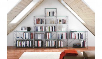 Libreria Socrate metallica a piramide