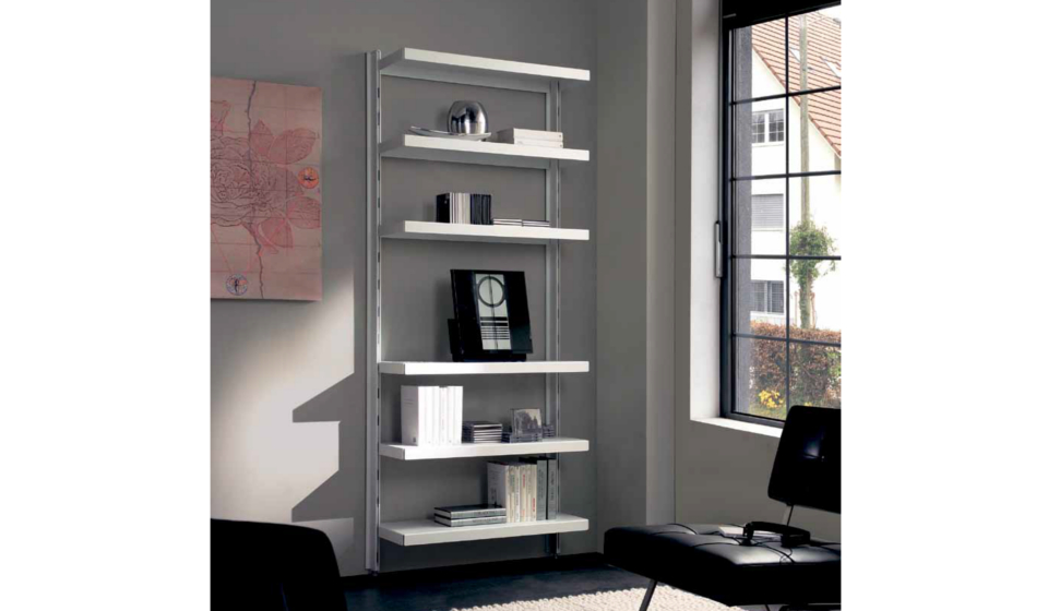 Libreria metallica per stereo e lettore mp3