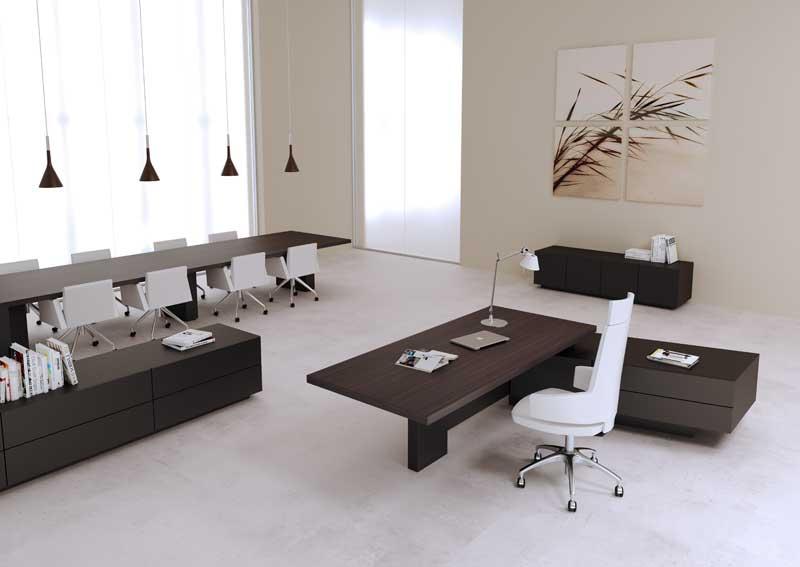 Mast ufficio direzionale scrivania manageriale con mobile di servizio