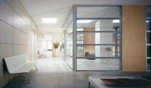 Metrica parete in vetro con profili in alluminio - riganelli