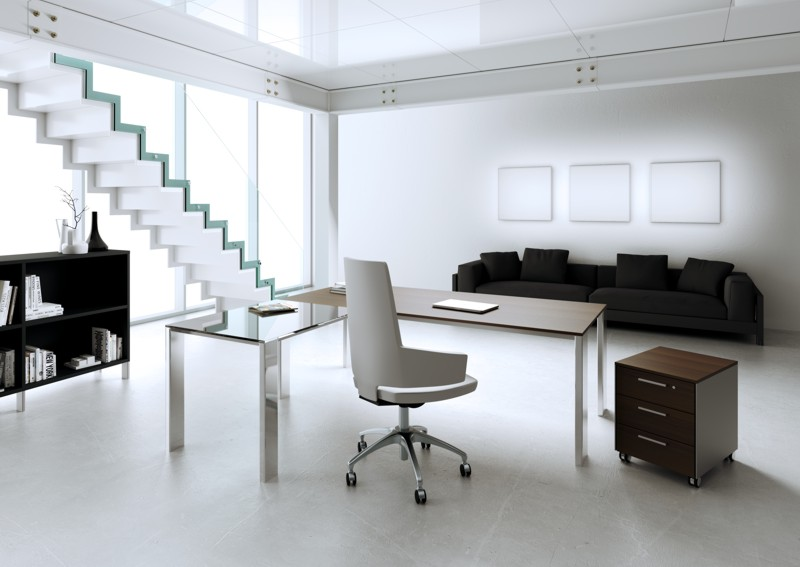 Minimax scrivania per ufficio direzionale con allungo laterale