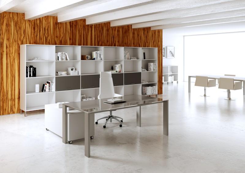 Minimax sistema direzionale scrivania con libreria a giorno ante vasistas
