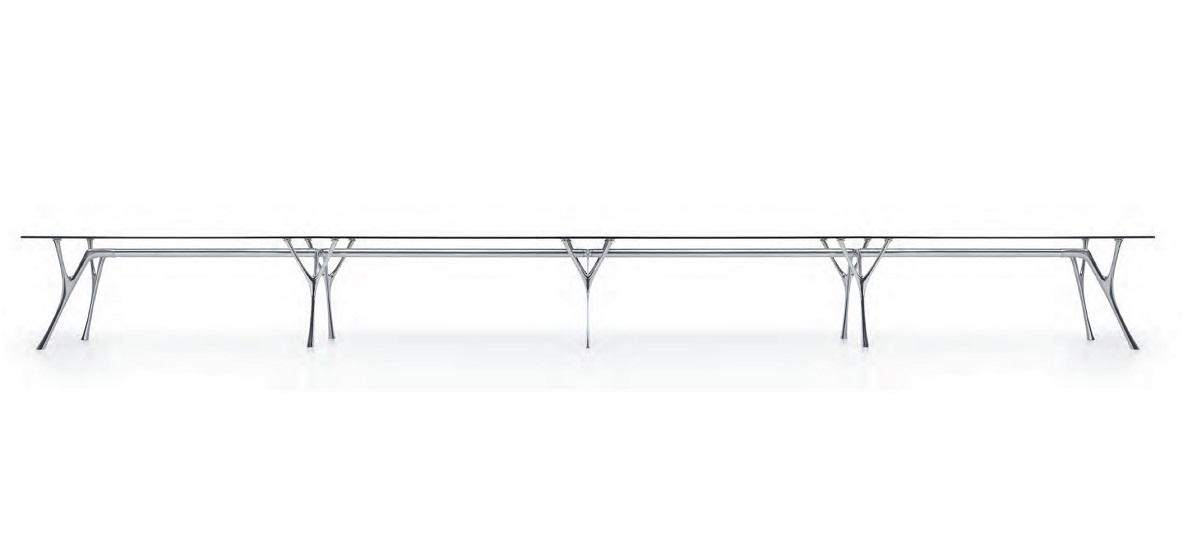Pegaso infinito tavolo riunione in vetro modulabile - riganell