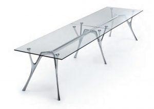 Pegaso tavolo riunione piano in vetro - riganelli