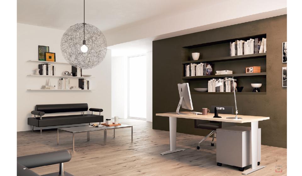 Scrivania Ufficio Operativa : Scrivania operativa cora mobili per ufficio open space e home