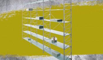 Socrate scaffalatura per ufficio elegante e di design