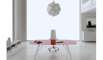 Tavolo riunioni Meeting piano in vetro colorato