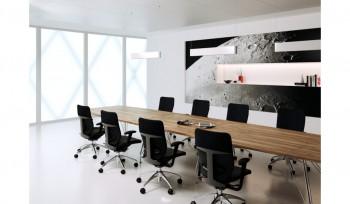 Tavolo riunioni Meeting piano sagomato in legno o vetro