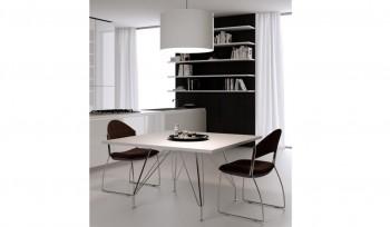 Tavolo riunioni Meeting quadrato con struttura cromata