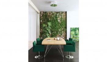 Tavolo riunioni Meeting struttura cromata e piano in legno