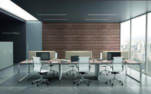 Ufficio operativo open space con pannelli divisori - riganelli