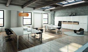 VERTIGO-Tavolo-riunione-piano-in-vetro-retrolaccato-bianco-Riganelli-Uffici