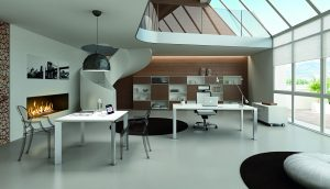 VERTIGO-Ufficio-direzionale-con-piano-laminato-bianco-lucido-Riganelli-Uffici