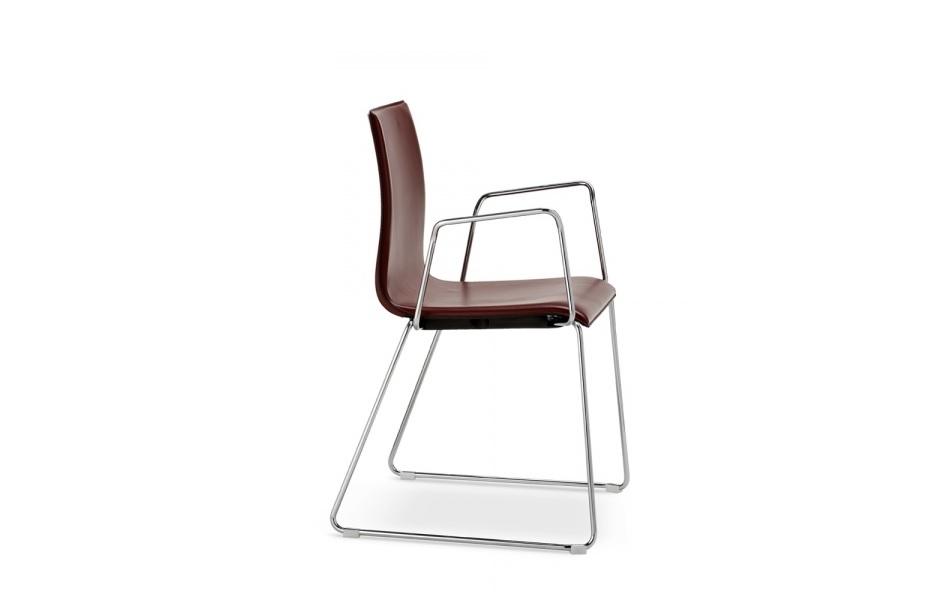 Wood sedia con braccioli per sala conferenze e sala riunione - riganelli