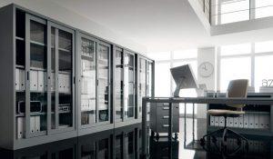 armadi metallici anta in vetro con serratura - riganelli