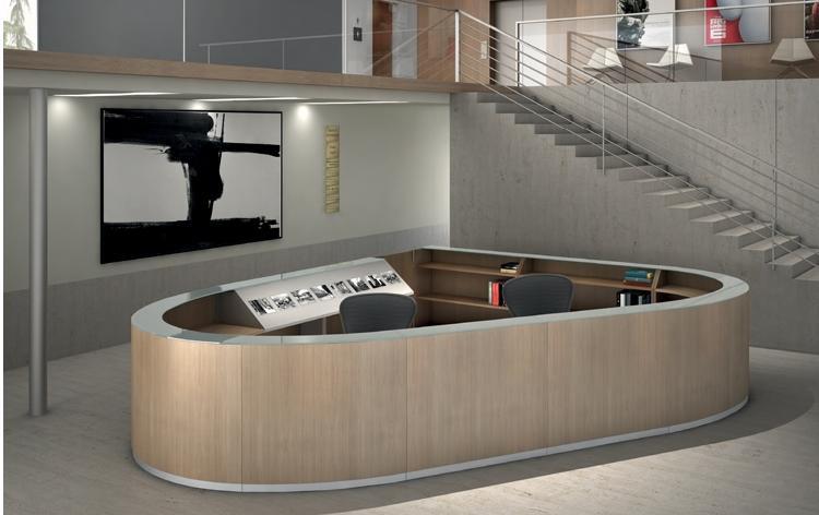 banco reception in legno bengentile-riganelli uffici