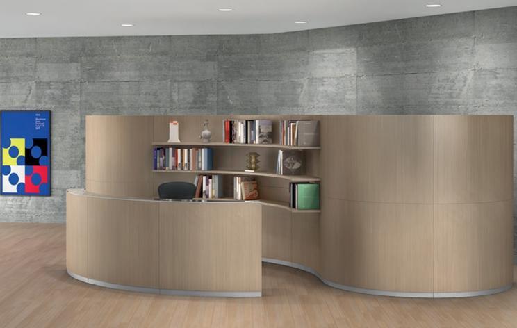 bengentile libreria e reception-riganelli arredamenti