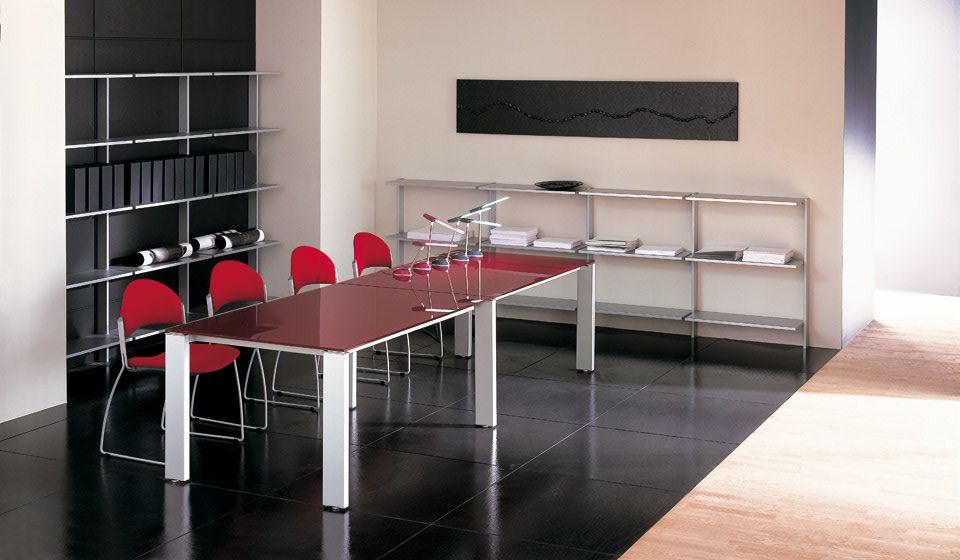 Minimax tavolo riunione rosso lucido - riganelli