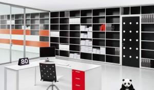 sistema di librerie colorate e di design - riganelli