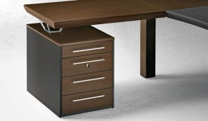 scrivania direzionale quadra con cassettiera - riganelli