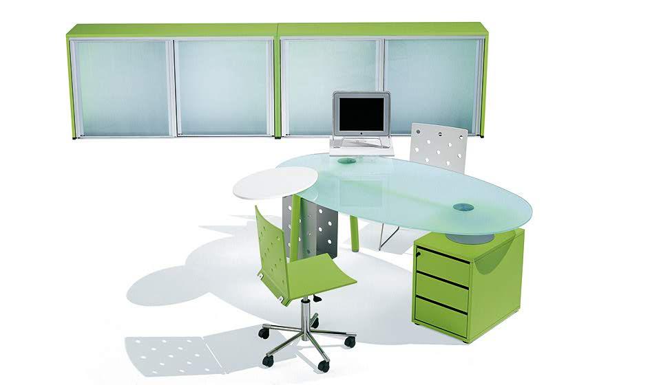 Isotta scrivania operativa con cassettiera