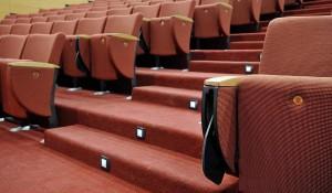 Infinity poltroncine imbottite per teatro auditorium cinema congressi - riganeli