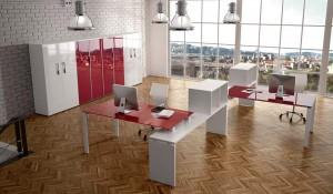 Composizione uffici operativi openspace Loft - riganelli