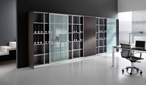 armadi ad anta scorrevole in legno e vetro - riganelli