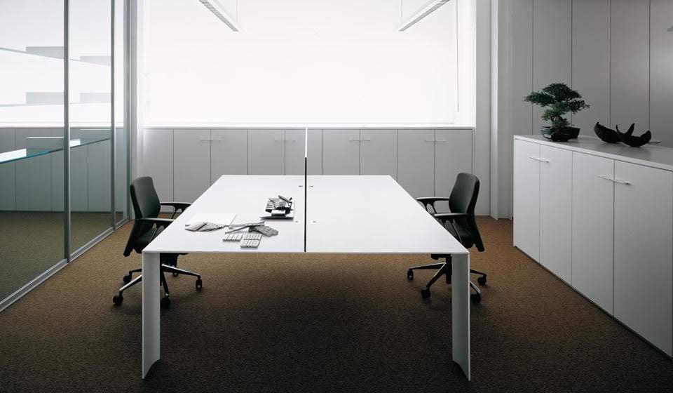 tavolo scrivania con divisorio dodici - riganelli