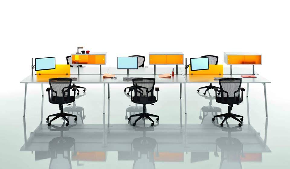 scrivania con postazioni per ufficio openspace - riganelli