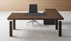 quadra scrivania angolare finitura legno - riganelli