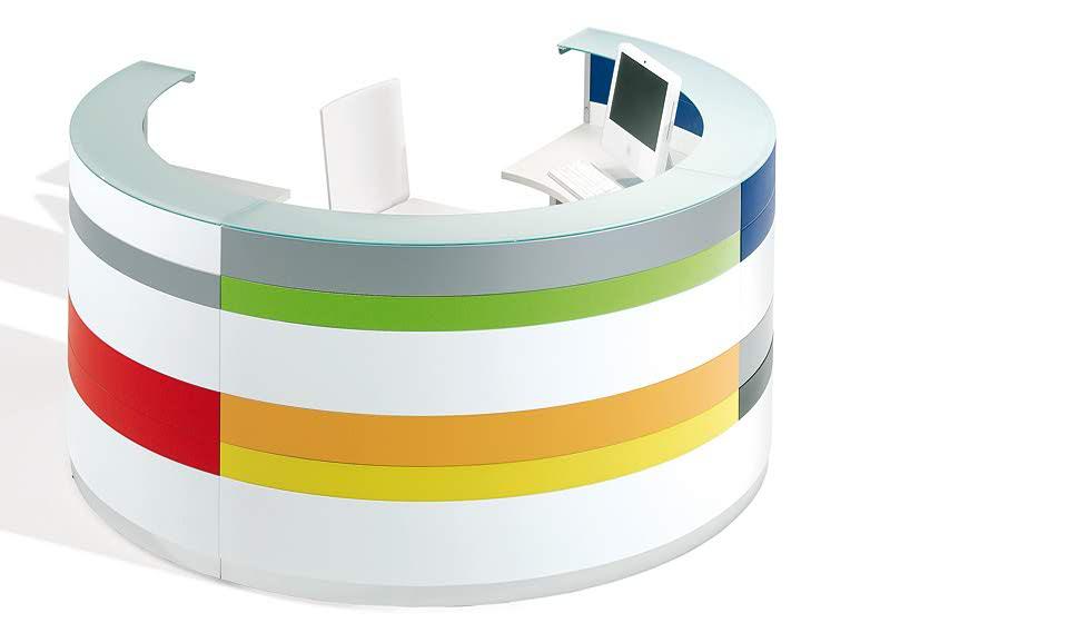 Twist bancone reception colorato - riganelli