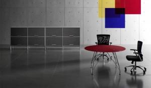 tavolo riunione rosso meeting - riganelli