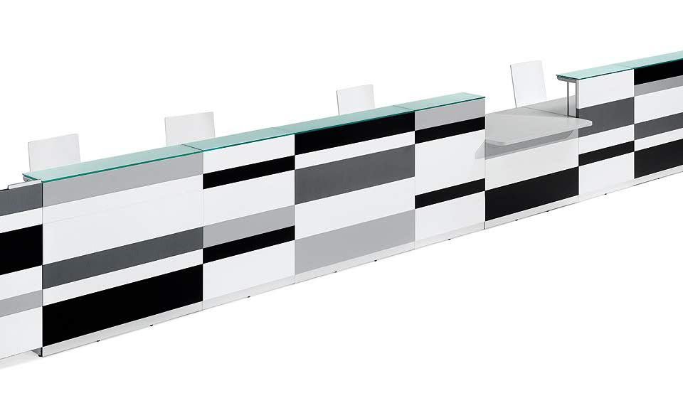 bancone ingresso colorato - riganelli