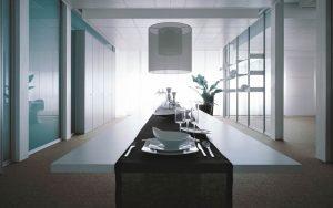 parete divisoria in vetro per sala riunione - riganelli