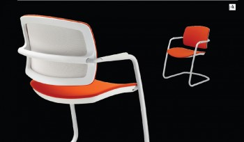 PK Sitland sedia per visitatori slitta colorata