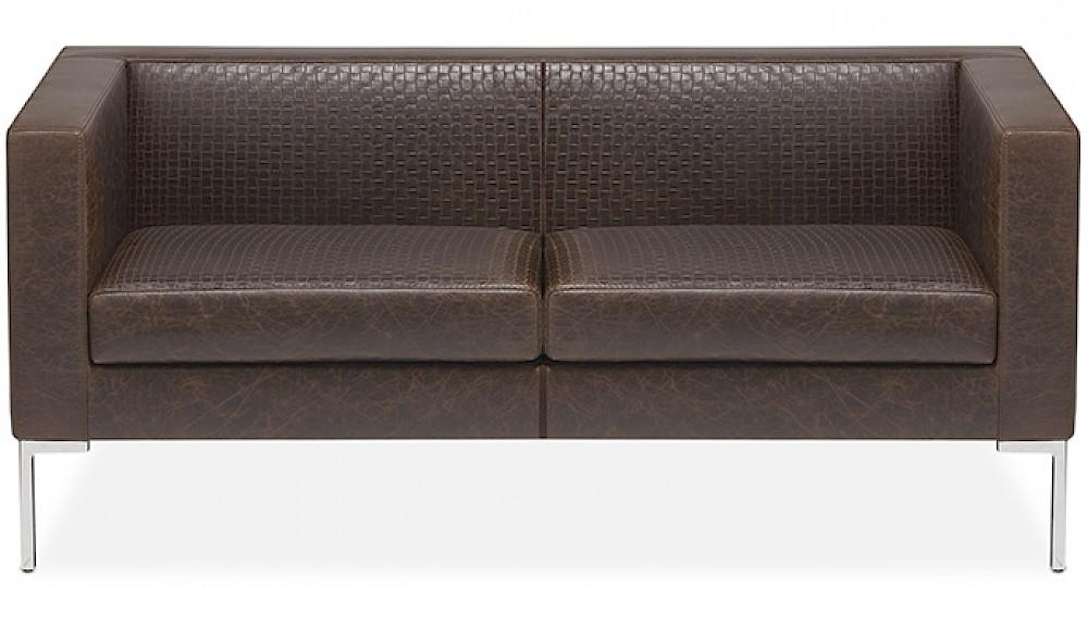 matrix divano pelle trapuntata per attesa e ricevimento ospiti ingresso - riganelli
