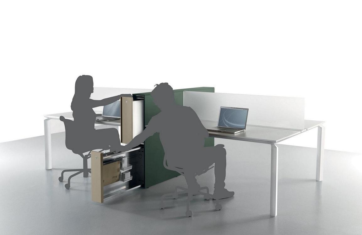 Anyware uffici multipostazione open space - riganelli