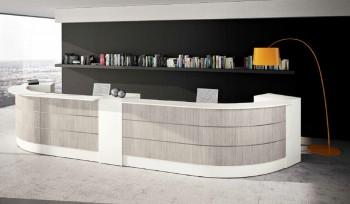 Bancone reception Get con mobili di servizio