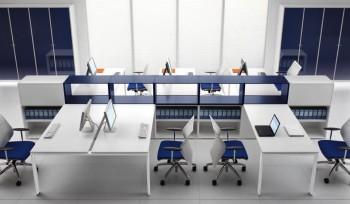 Glider Bralco scrivania operativa multipostazione colorata