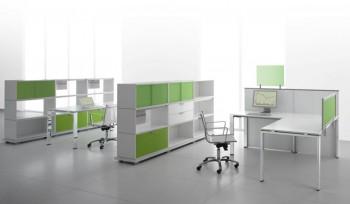 Glider Bralco scrivania operativa multipostazione con divisorio