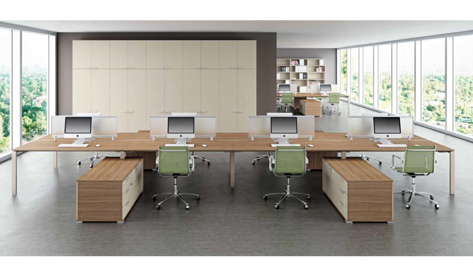 GlidGlider scrivania operativa struttura colore tortora o nebbiaer scrivania operativa struttura colore tortora o nebbia