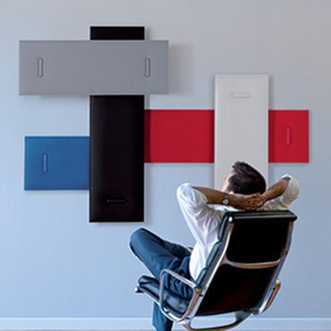 Mitesco pannelli acustici fonoassorbenti colorati per casa e ufficio - Riganelli Arredamenti