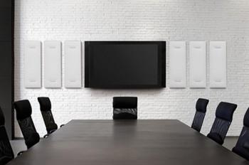 Pannelli fonoassorbenti mitesco design e comfort acustico sala riunione- Riganelli uffici