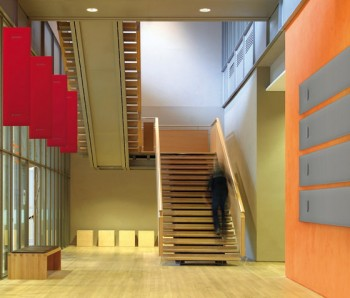 mitesco pannelli fonoassorbenti snowosund per uffici e grandi spazi - riganelli