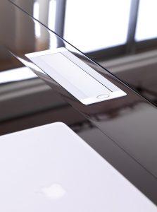 porta passa cavi scrivania wing - riganelli