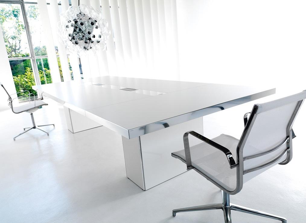 wing ufficio direzionale e tavolo riunione bianco - riganelli